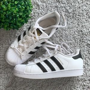 Adidas Superstars Original White Black Gol…